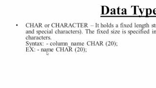 11. CHAR, VARCHAR and TEXT Data Type in SQL (Hindi)