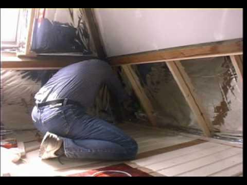 aftimmeren zolder na isolatie met TONZON Thermosheets - YouTube