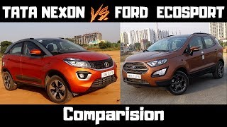 TATA NEXON vs FORD ECOSPORT : Comparision | कोंसी है बेहतर | NEXON | ECOSPORT