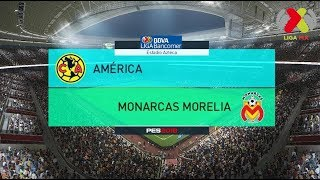 PES 2018 | América vs Morelia | Jornada 7 Liga Mx | Gameplay PC