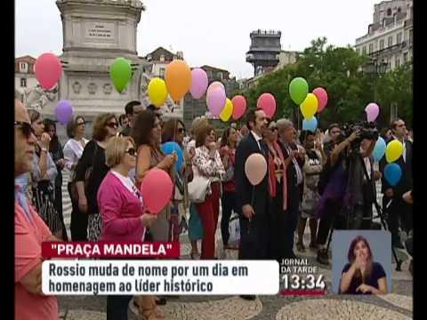 RTP - Rossio transforma se na Praça Nelson Mandela