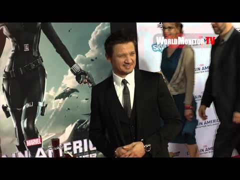 Chris Evans, Jeremy Renner arrive at 'Captain America: The Winter Soldier' LA premiere