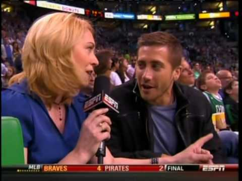 Jake Gyllenhaal at the Celtics Vs Magic Basketball Game (5.22.10) Video