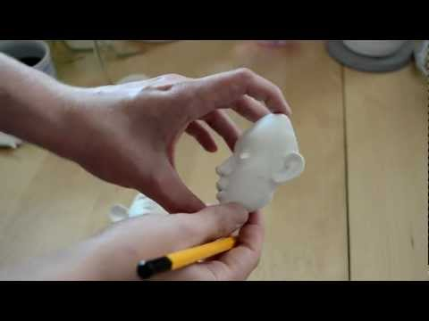 Making my clay BJD part 1/3