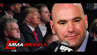 Dana White: MMA fans should appreciate that President Donald Trump attended UFC 244