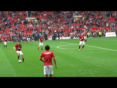 Live From Old Trafford Man United 4-0 QPR watch Falcao & Co Train 14/9/14