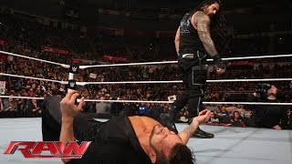 Roman Reigns ආපසු කරලියට. Big Show පැන යයි.. Roman Reigns silences Fandango