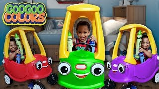 Talking Car Sneezes and Lost His Color! (Learn Color Recognition + More Kids Videos)