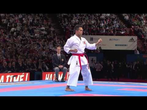 Final Male Kata. Vu Duc Minh Dack of France. 21st WKF World Karate Championships Paris 2012
