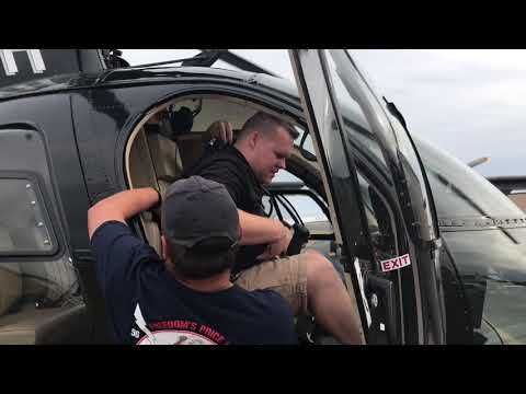 Matt Steward flies the MD 500 Helicopter