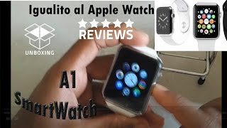 Analisis del reloj Inteligente con apariencia del Apple Watch el A1 para android y ios Economico