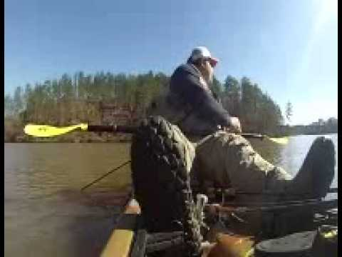 Kayak fishing on Lake Mitchell  Alabama !!!!