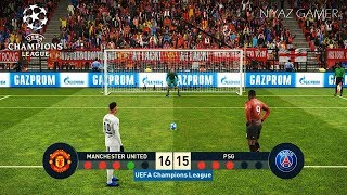 MANCHESTER UNITED vs PSG | UEFA Champions League - UCL | Penalty Shootout | PES 2019