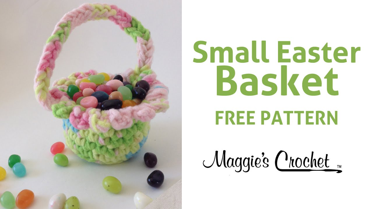 Free Crochet Patterns For Easter Gifts : Small Easter Basket Free Crochet Pattern - Right Handed ...
