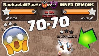 TOP PLAYERS ATTACK EACH OTHER LAST MINUTE | Clash of Clans | Tie War.. Who wins?!
