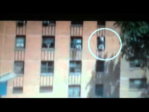 Hero Catches Girl Who Jumped From 3rd Story Window!! video