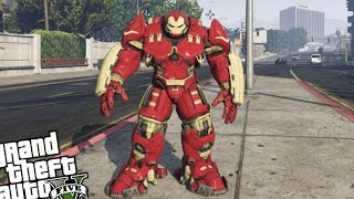 GTA 5 PC Iron Man Mod - HULKBUSTER ARMOR VS ZOMBIE INVASION (Grand Theft Auto 5 Hulkbuster)