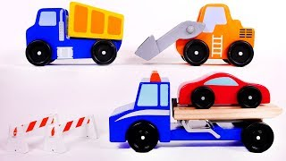 Dump Truck Wheel Loader Tow Truck and Cement Mixer Toy Vehicles for Kids
