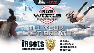 Rules of Survival: iRooTs with KraussePH - FINALLY GrandMaster!!!