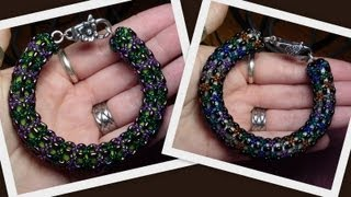 Twin bead Netted Spiral Beading Tutorial by HoneyBeads1 (Photo tutorial with twin beads)