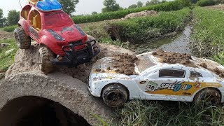 RC Cars MUD OFF Road — Land Rover And BMW RC Speed Up Car #1 — Car Wash Play — RC Extreme Video