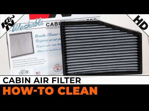 K&N Cabin Air Filter Cleaning