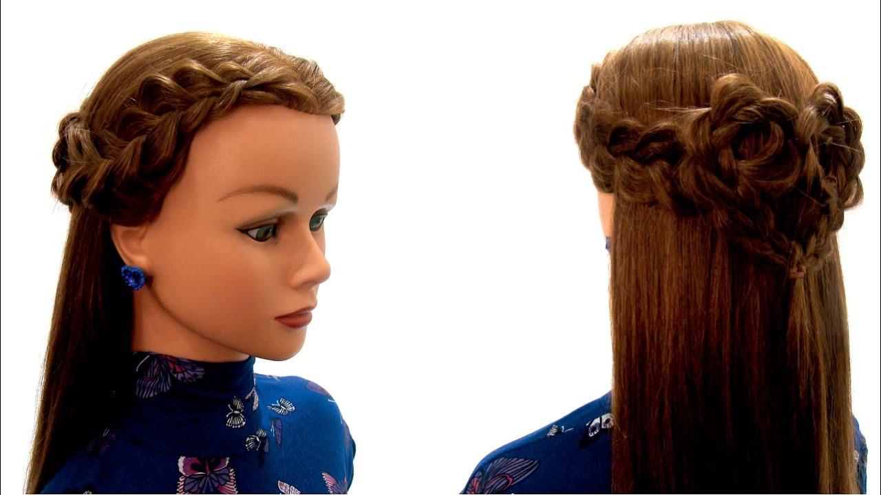 Повседневная причёска своими руками в домашних условиях