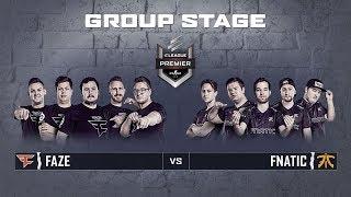 ELEAGUE CS:GO Premier 2018 - Faze vs Fnatic - Group Stage