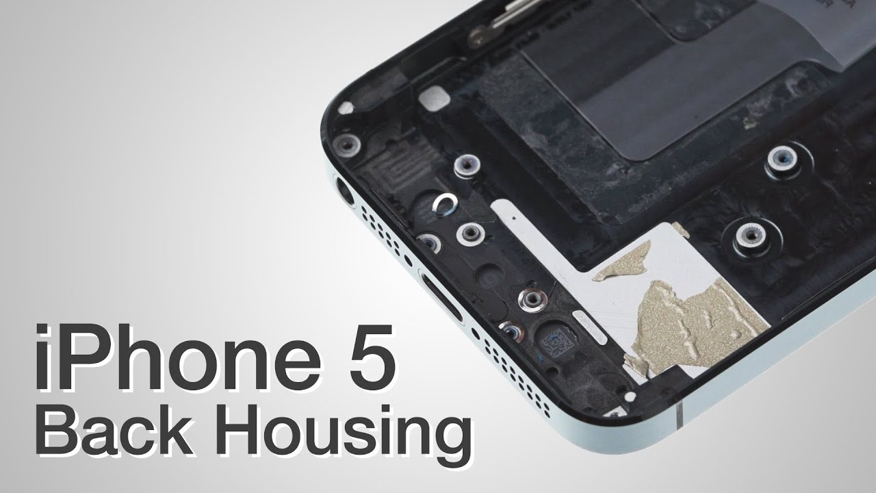 back housing repair iphone 5 how to tutorial youtube. Black Bedroom Furniture Sets. Home Design Ideas