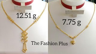 Gold chain necklace designs with WEIGHT