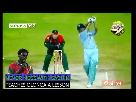 FIRST ON YOUTUBE !!Sachin Tendulkar vs Henry Olonga The revenge - full innings Sharjah 1998