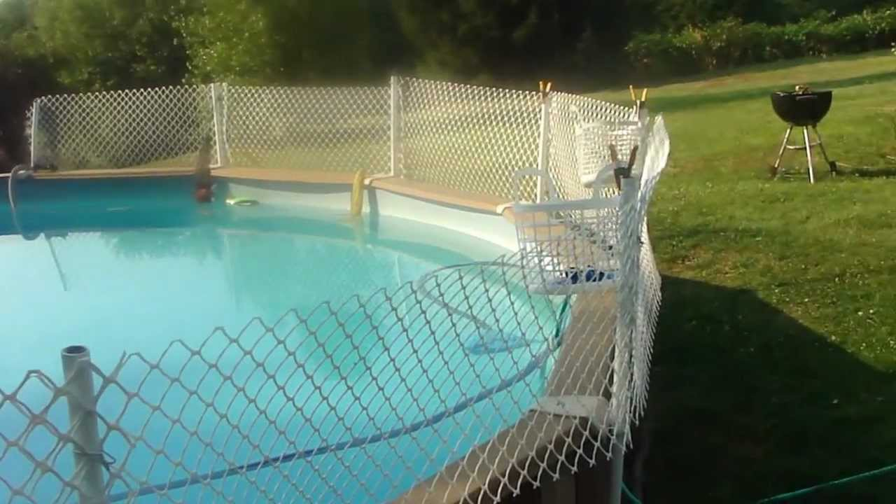The banned video how to install an inexpensive fence for Cheapest way to put in a pool