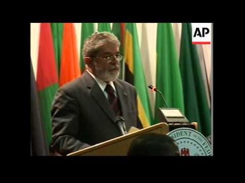 WRAP Brazilian President at Africa-South America summit, Sudanese president on Darfur