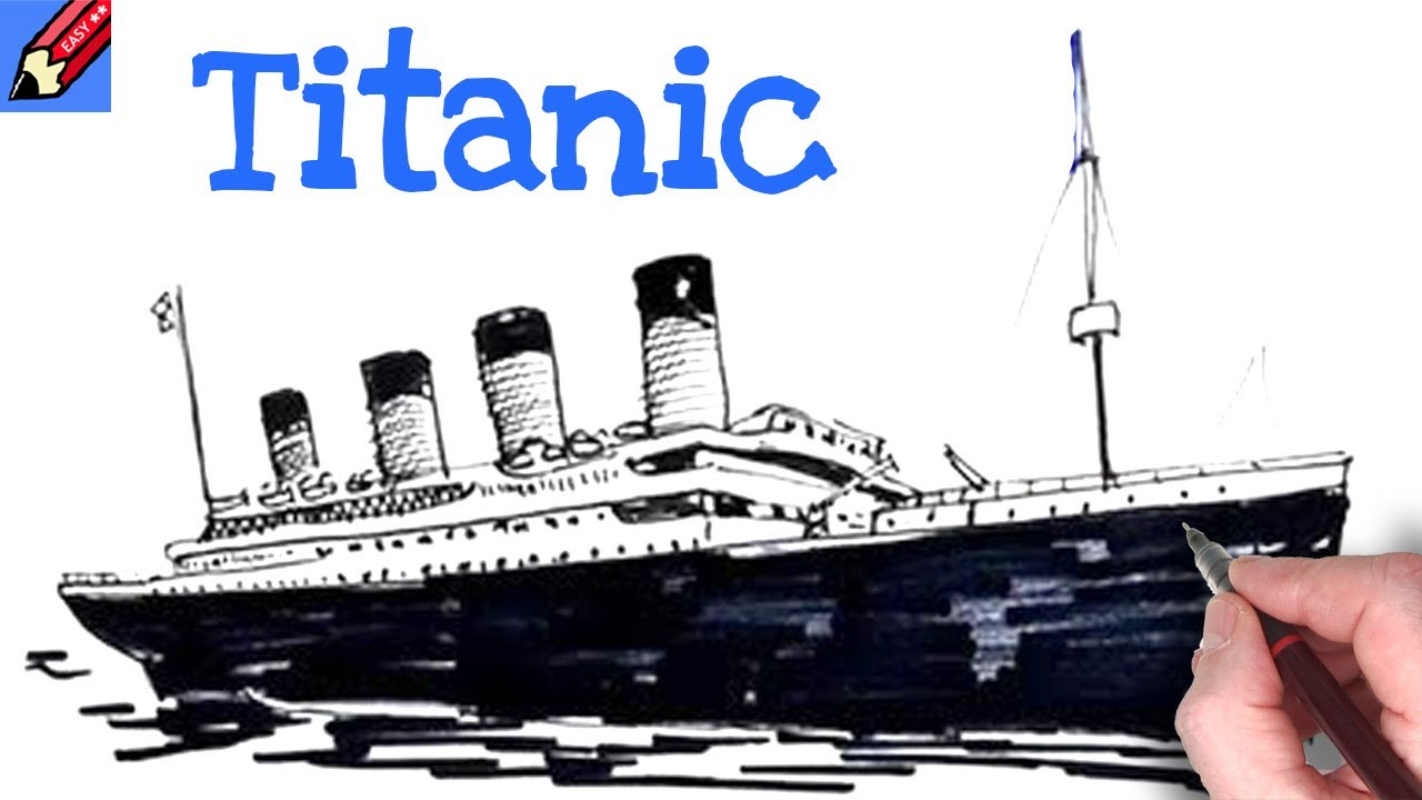Titanic Pencil Drawings How to Draw The Titanic