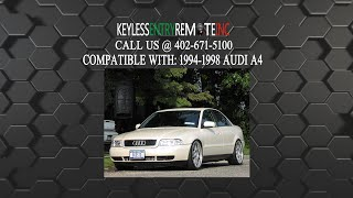 How To Replace Audi A4 Key Fob Battery 1994 1995 1996 1997 1998