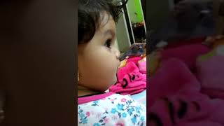 Cute baby Ziwa arguing with dear papa..