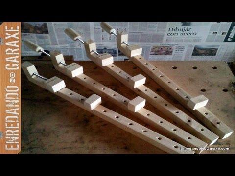Como hacer sargentos de madera. How to make wooden bar clamps.