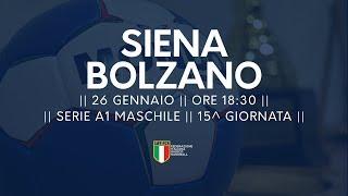 Serie A1M [15^]: Siena -Bolzano 20-36