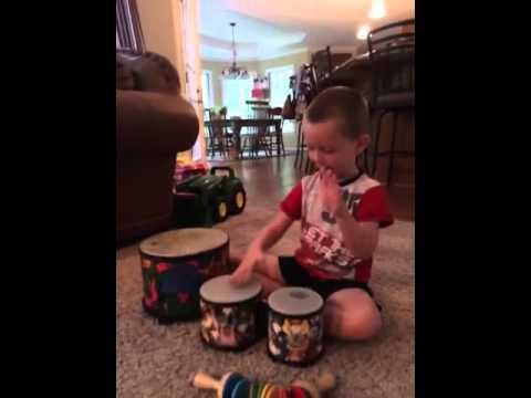 Matteo drumming