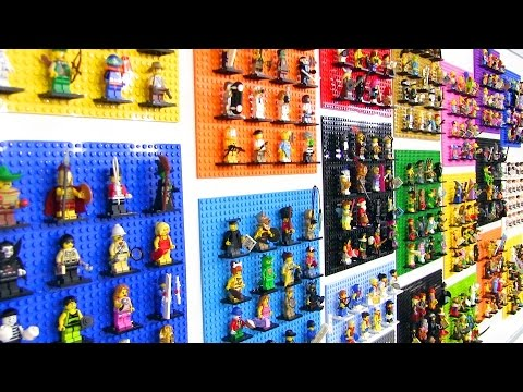 All LEGO Collectible Minifigure Series on display! 340+ minifigs!