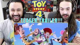 TOY STORY 4 | Official Teaser TRAILER - REACTION!!!