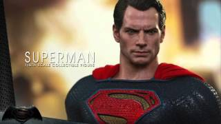 Batman V Superman Dawn Of Justice Hot Toys Superman 1/6 Scale Figure Reveal!