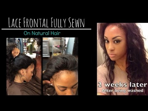 Lace frontal Sew in Weave on Natural hair! - No Glue - Los Angeles Hair Salon 'Stylist Lee'