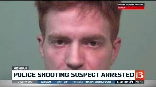 Police shooting suspect arrested