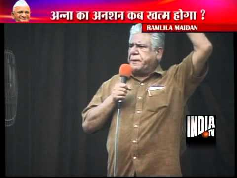 Om Puri Visits Ramlila Maidan video