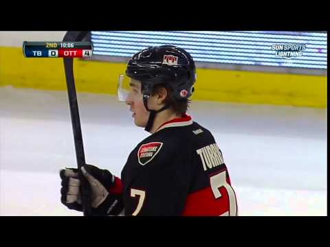 BJ Crombeen vs Marc Methot fight Mar 23 2013 Tampa Bay Lightning vs Ottawa Senators NHL Hockey