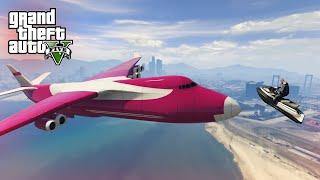 LANDING JETSKI'S IN PLANES! - (GTA 5 Top 5 Stunts)