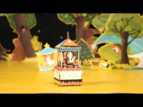 DIY Wooden Music Box - Merry Go Around