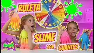 MYSTERY WHEEL OF SLIME GLOVES CHALLENGE!! RULETA DE SLIME CON GUANTES