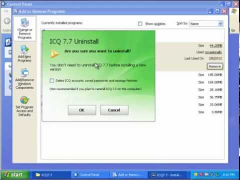 How to Uninstall ICQ 7.7 Completely